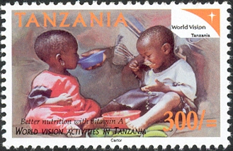 World Vision Nutrition - Philately Tanzania stamps