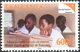 World Vision-Education - Philately Tanzania stamps