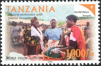 World Vision - Malaria Prevention - Philately Tanzania stamps
