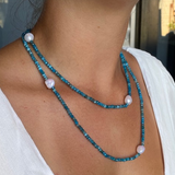 apatite pearl necklace