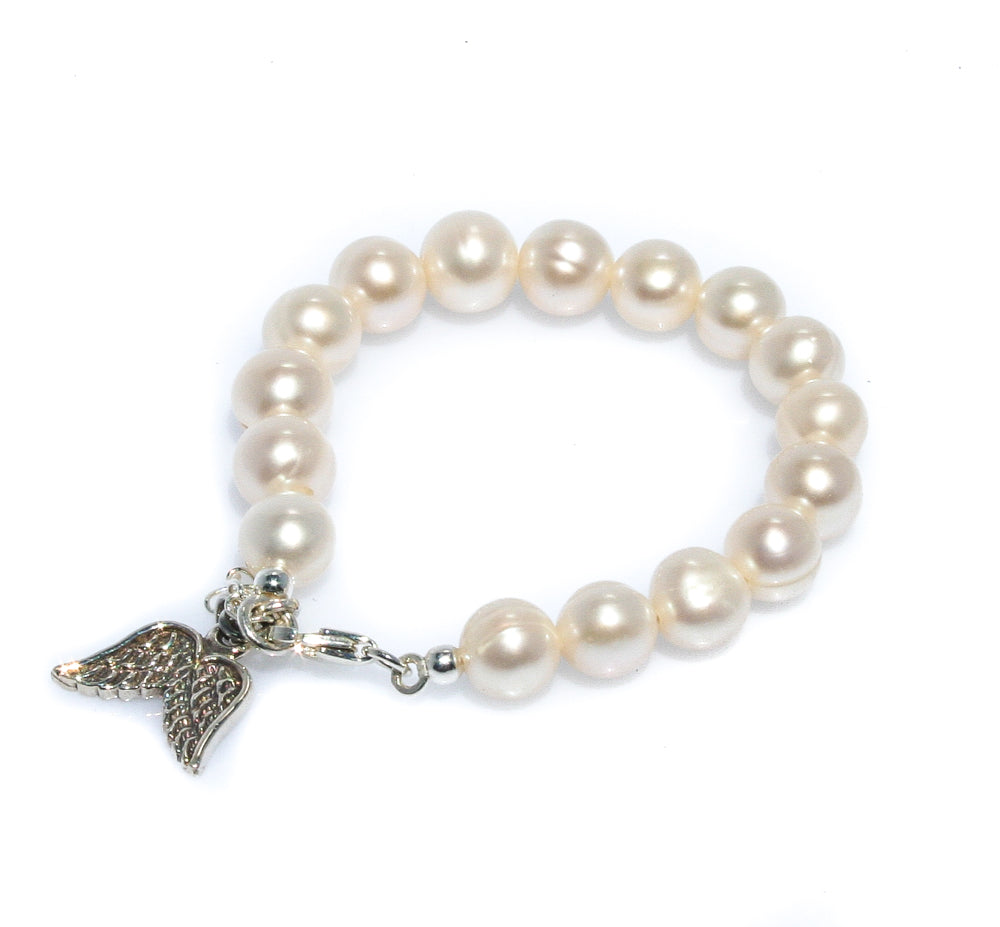 ANGEL WING PEARL  BRACELET