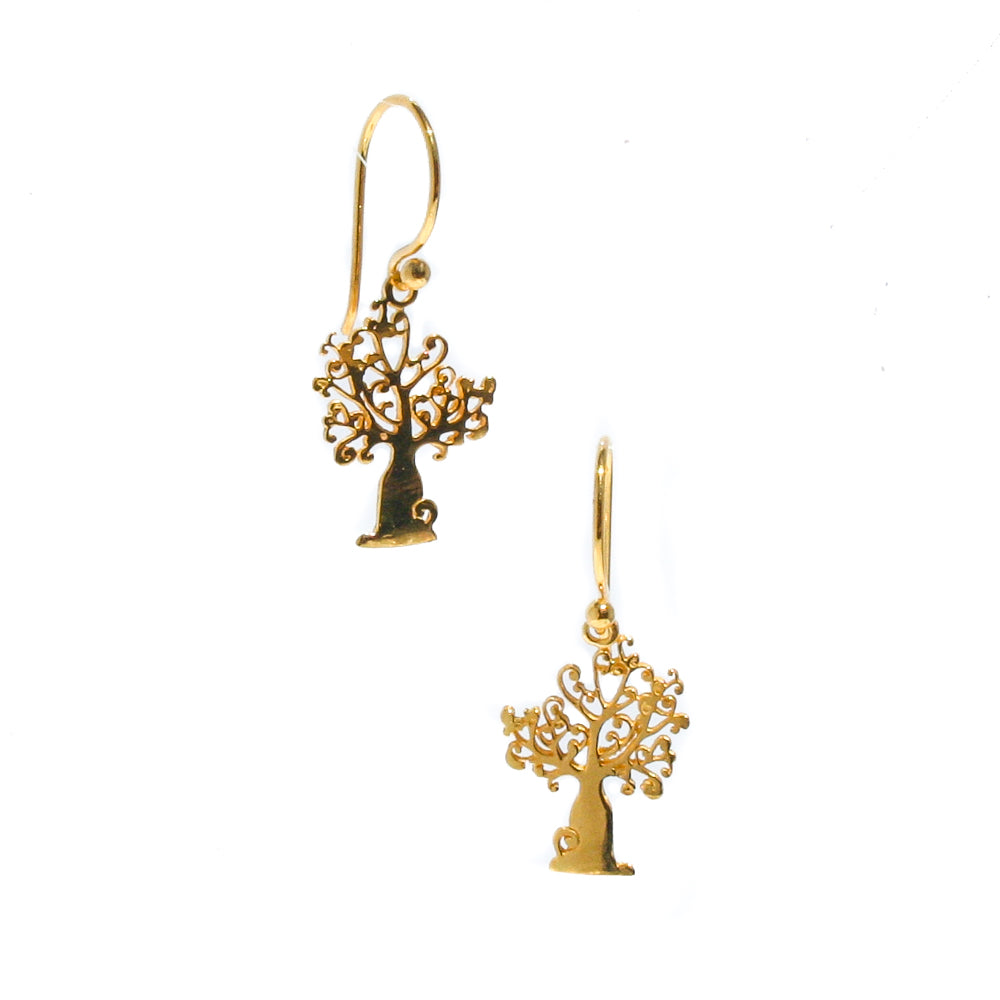 gold boab earrings