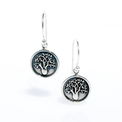 BOAB ROSE GOLD TREE OF LIFE EARRINGS