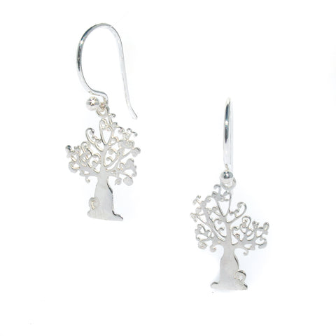 BOAB TREE OF LIFE SOLID SILVER EARRINGS