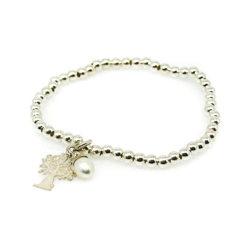 SEA DREAMS PEARL BLACK GARNET ANKLET