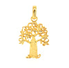 gold boab tree pendant