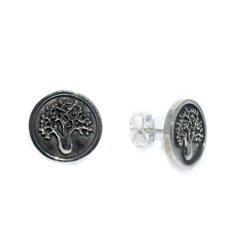 BLACK PEARL STUDS 12mm