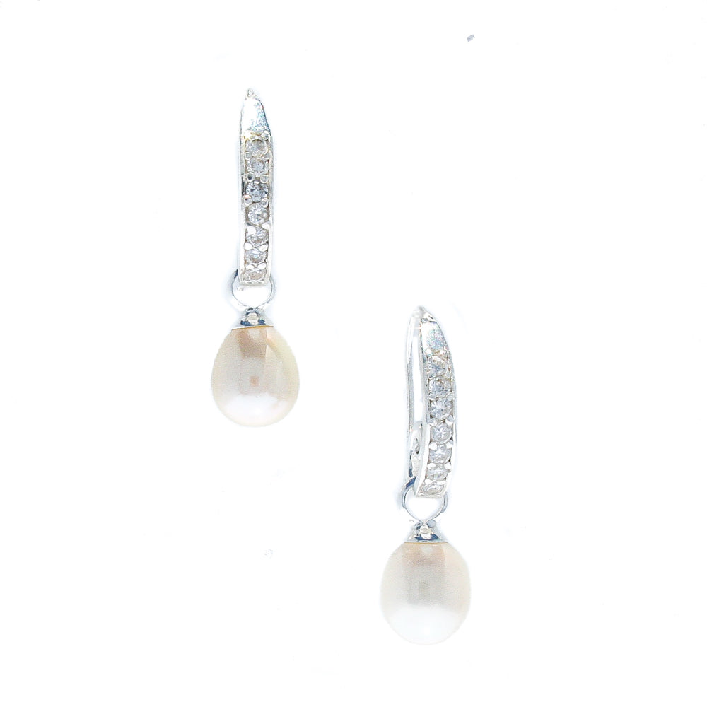 BROOME STARRY NIGHT PEARL EARRINGS WHITE