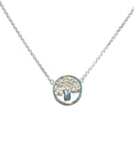 BOAB TREE STERLING SILVER NECKLACE
