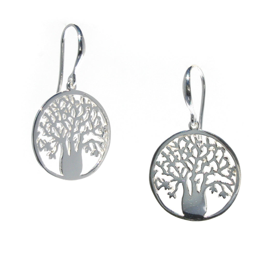 silver boab earrings