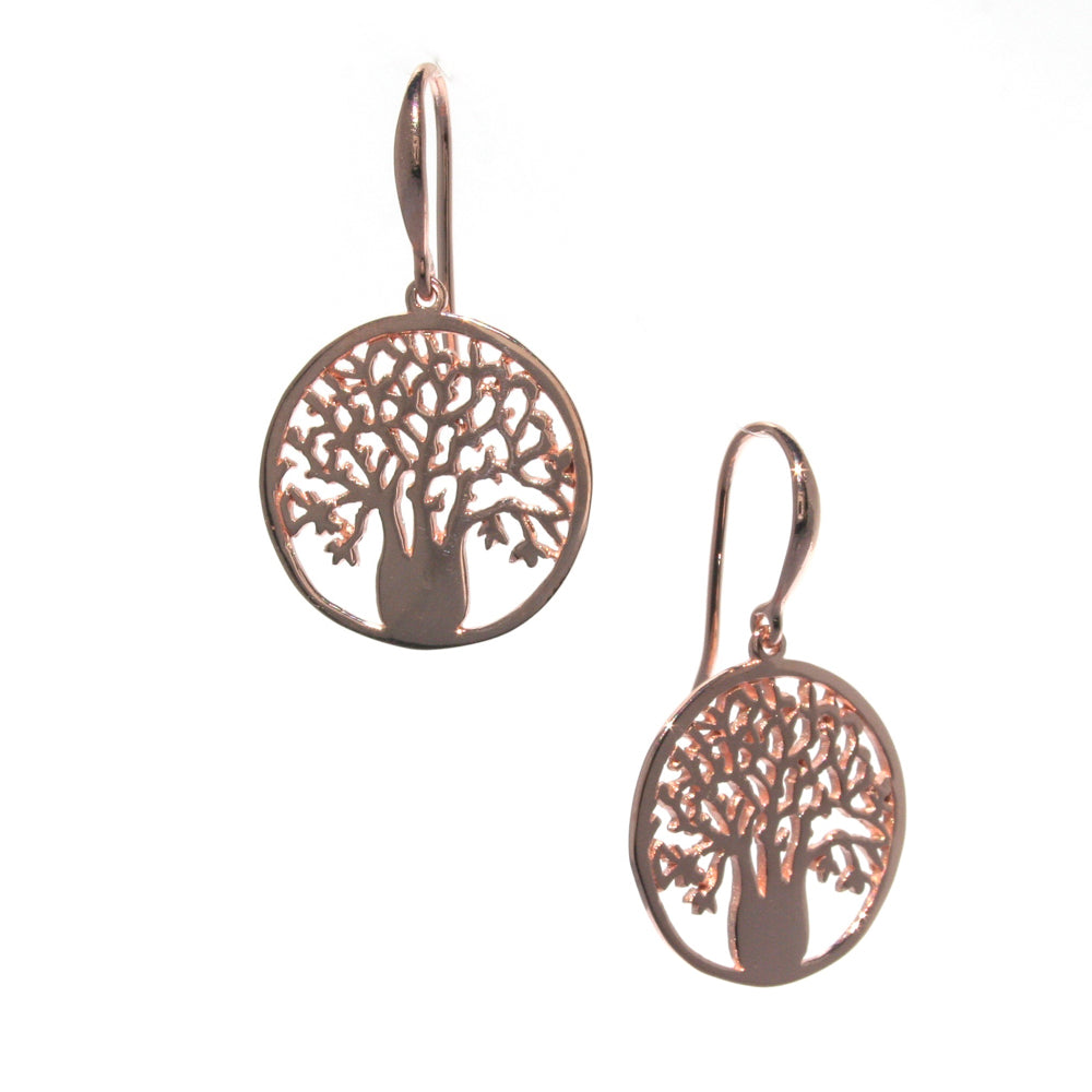 rose gold boab earrings