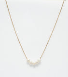 CABLE BEACH SANDS PEARL NECKLACE YELLOW GOLD PLATED ON STERLING SILVER