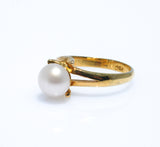 CLASSIC GOLD PLATED PEARL RING