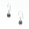 DAINTY DROP PEARL EARRINGS BLACK
