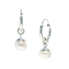 PEARL slepper earrings silver