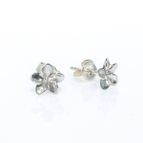FRANGIPANI STERLING SILVER STUD EARRINGS