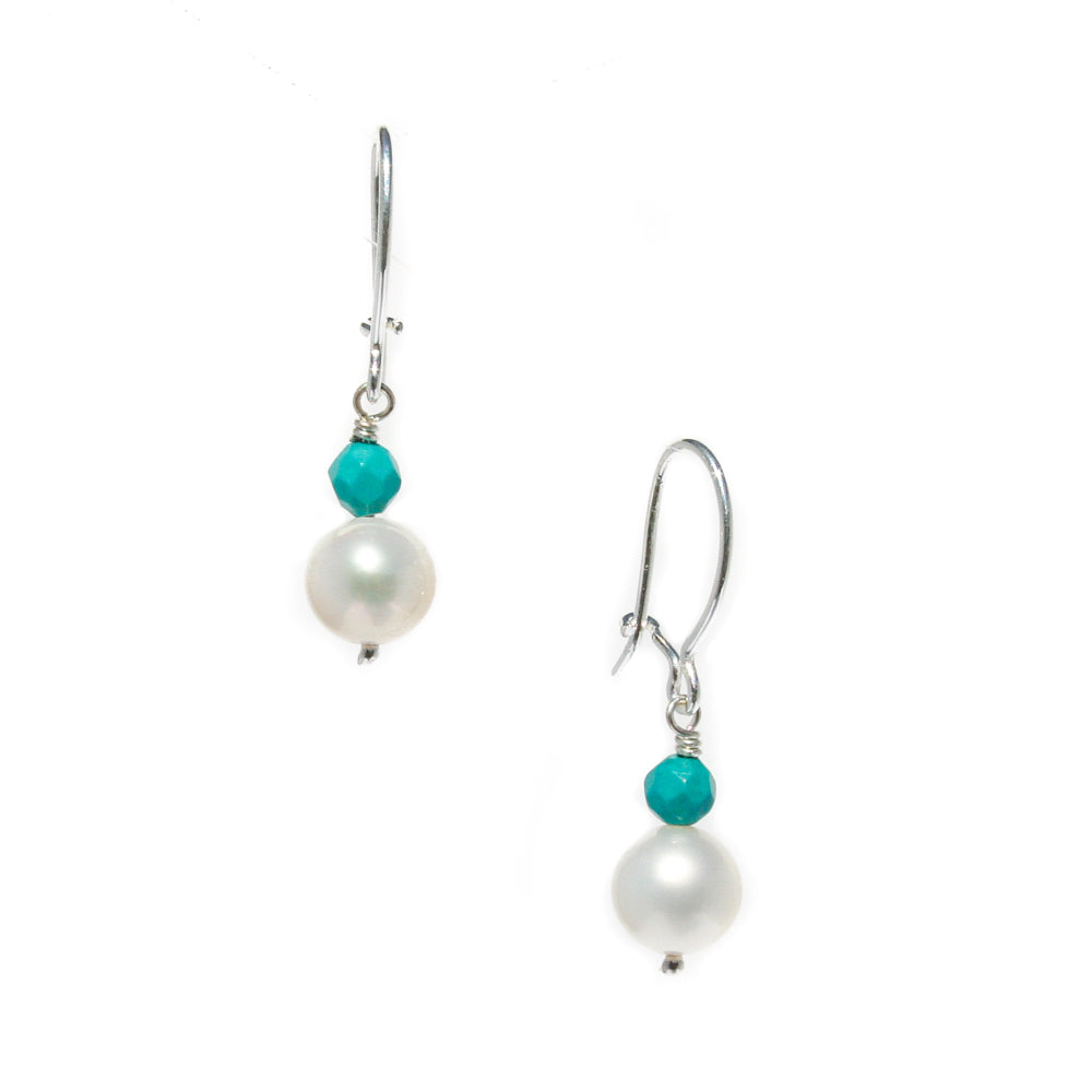 TURQUOISE PEARL EARRINGS