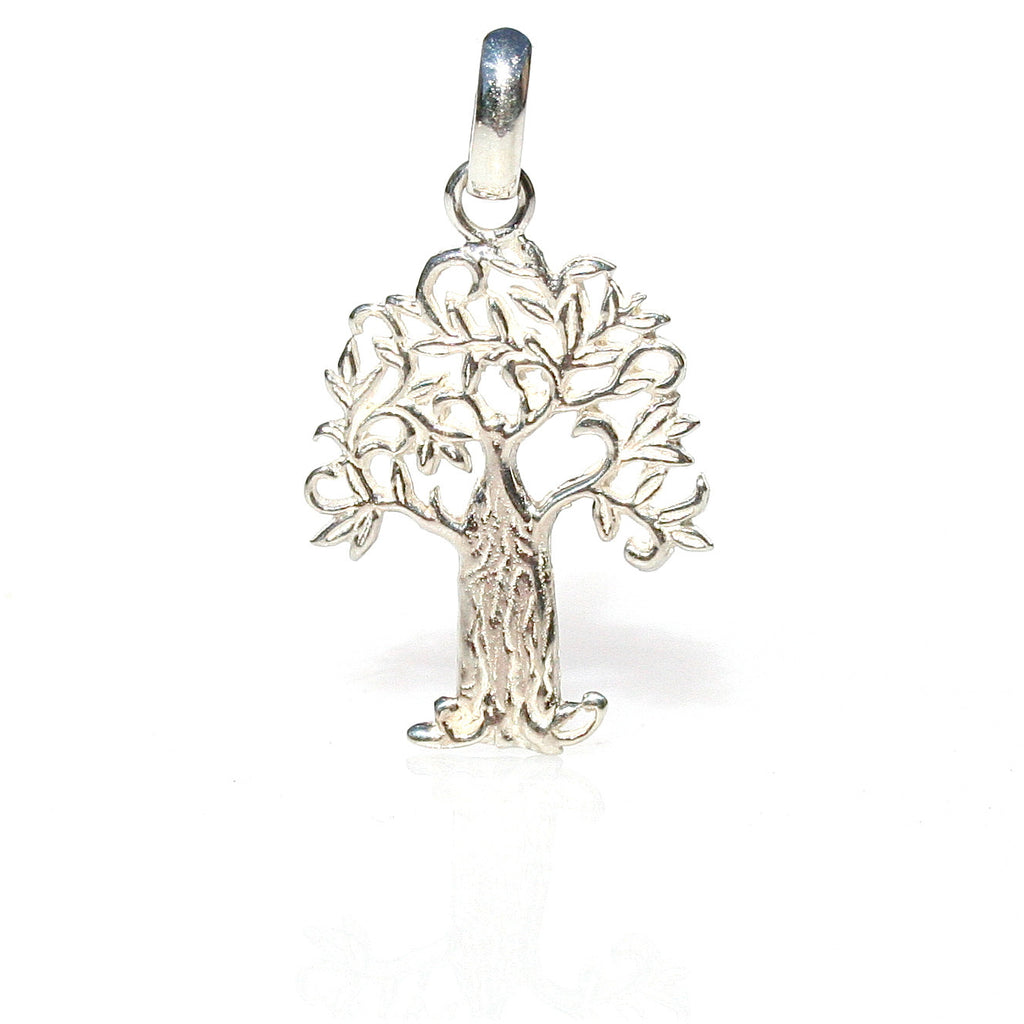 moon human sun alloy necklaces tree from in pendant jewelry charm nature life round of necklace symbolic item silver