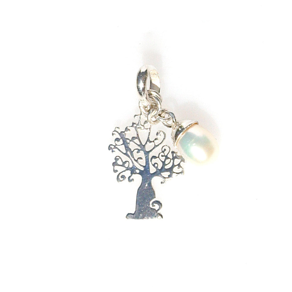 BOAB TREE PENDANT/CHARM WITH PEARL