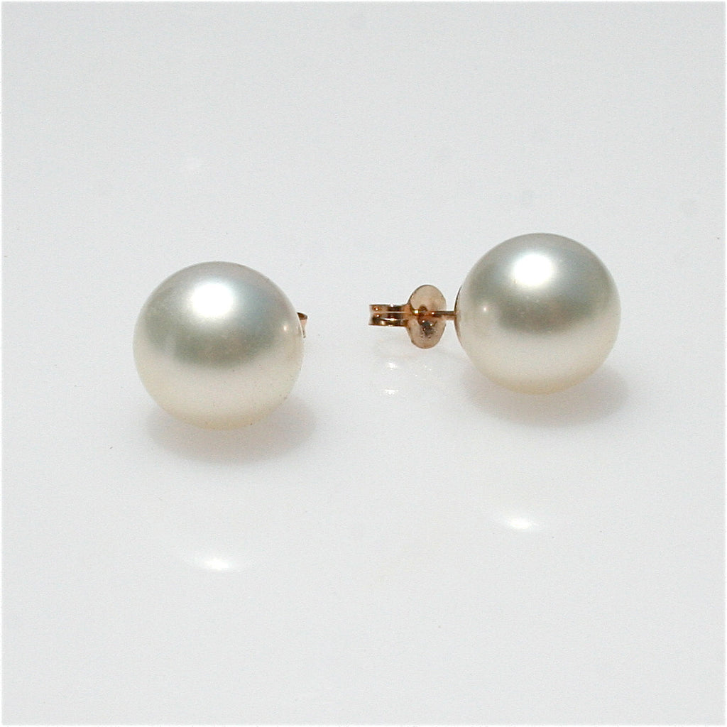 BROOME SOUTH SEA PEARL STUDS 10.5-11MM YELLOW GOLD