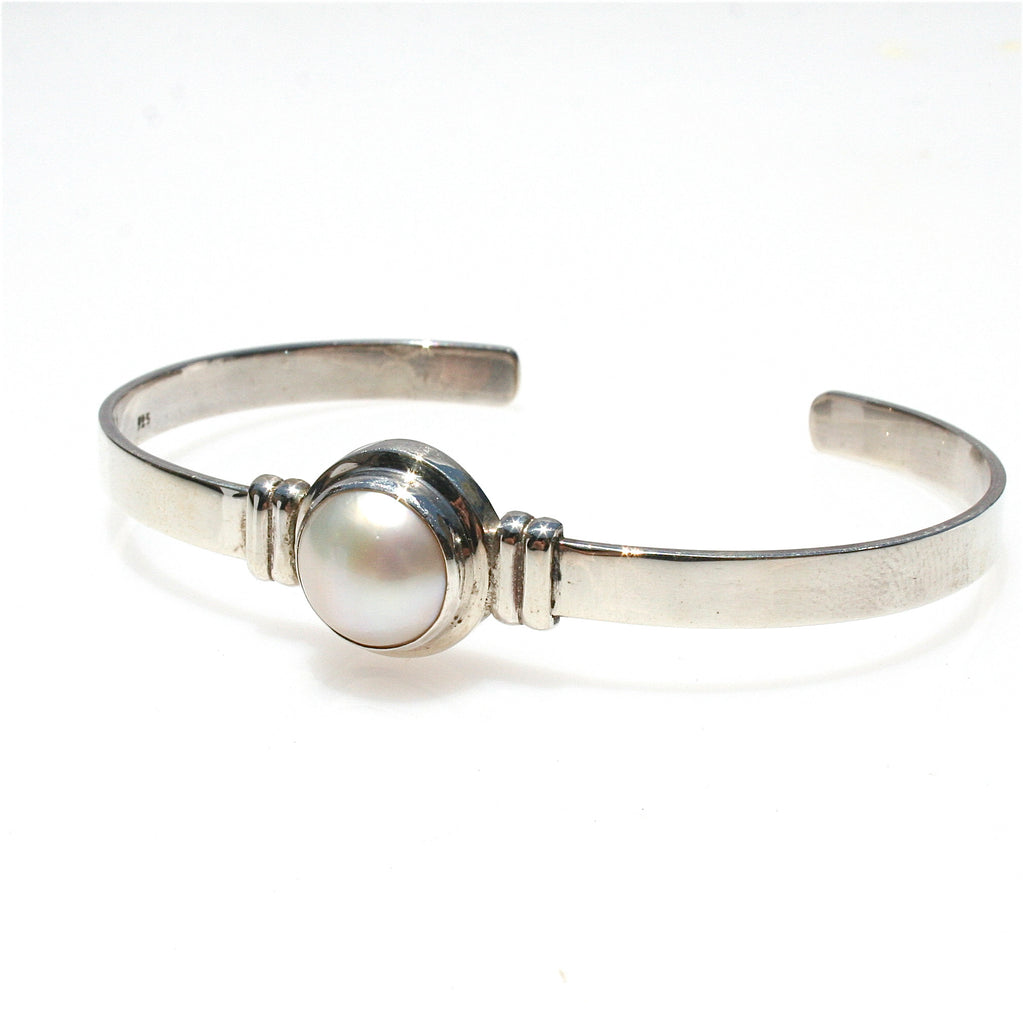 MABE PEARL STERLING SILVER CUFF