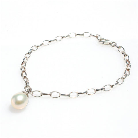 AVA PEARL CUFF IN STERLING SILVER