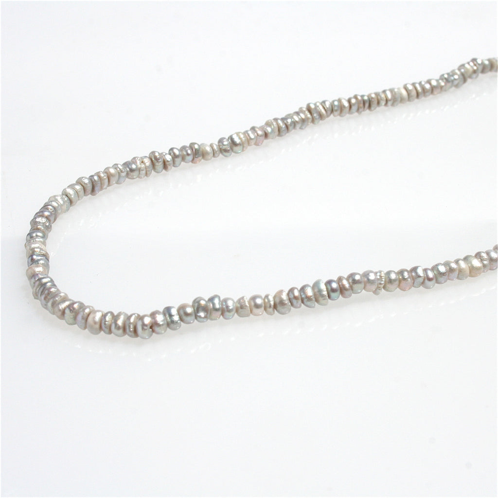 SILVER SEED PEARL NECKLACE