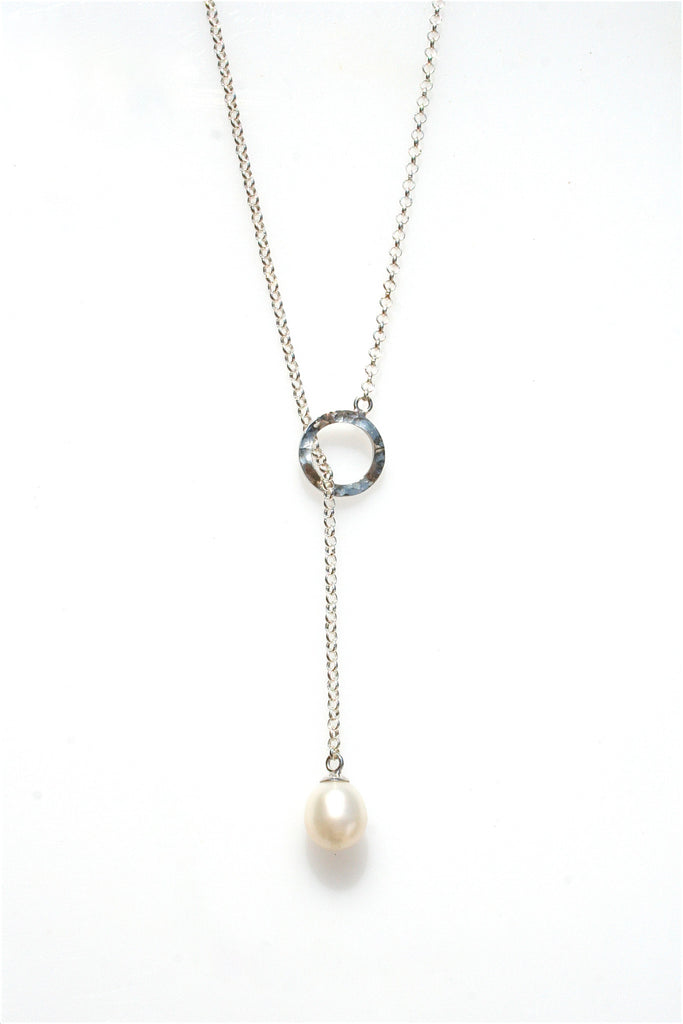 LANI LARIAT PEARL NECKLACE