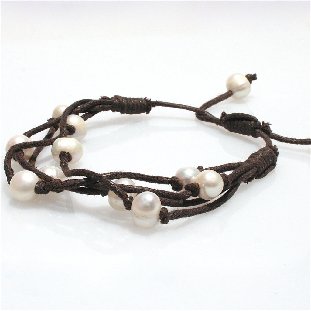 BOHO PEARL BRACELET BROWN