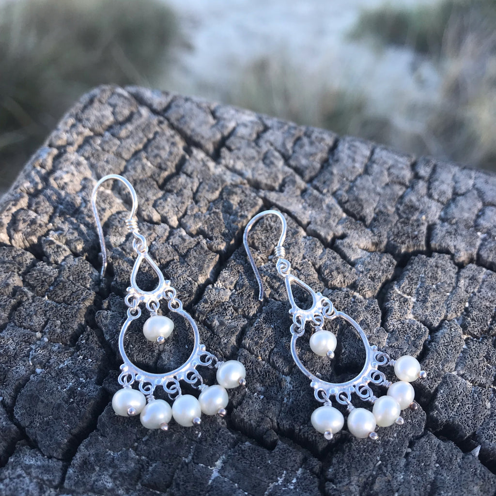SHINJU PEARL EARRINGS
