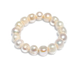 LADIES PEARL STRETCH BRACELET 12-14mm