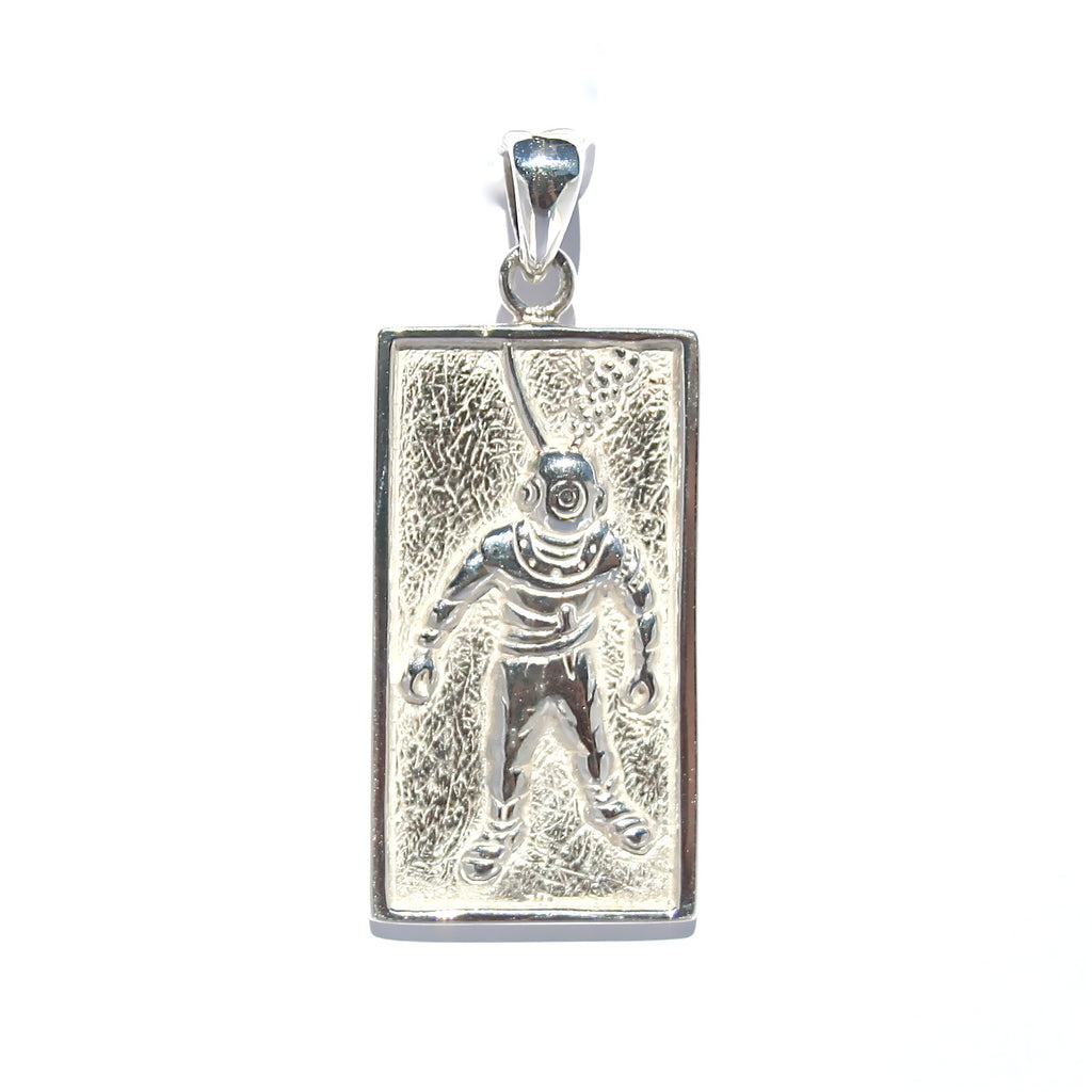 PEARL DIVER STERLING SILVER PENDANT