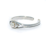 LILA PEARL STERLING SILVER TOE RING