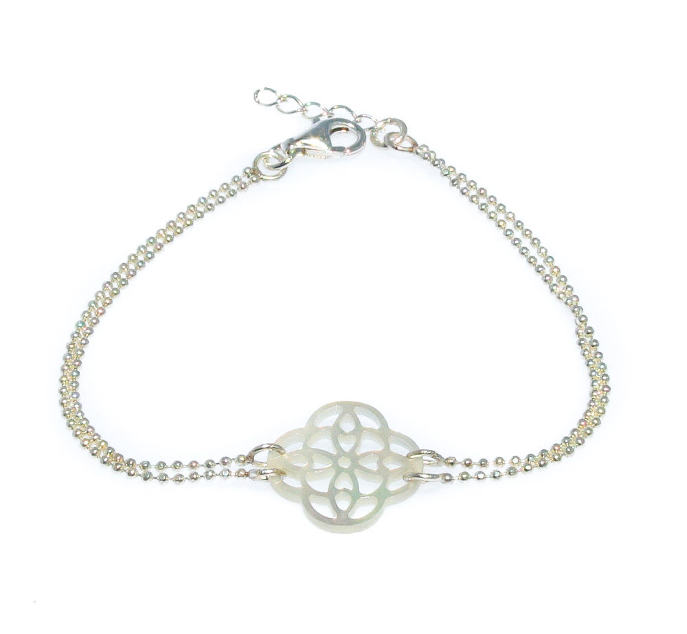 PARADISE MOTHER OF PEARL SILVER BRACELET