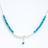 PEARL APATITE STERLING SILVER NECKLACE