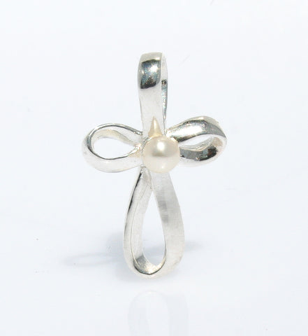 DRAGONLY & PEARL STERLING SILVER RING
