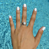 RIPPLE PEARL RING