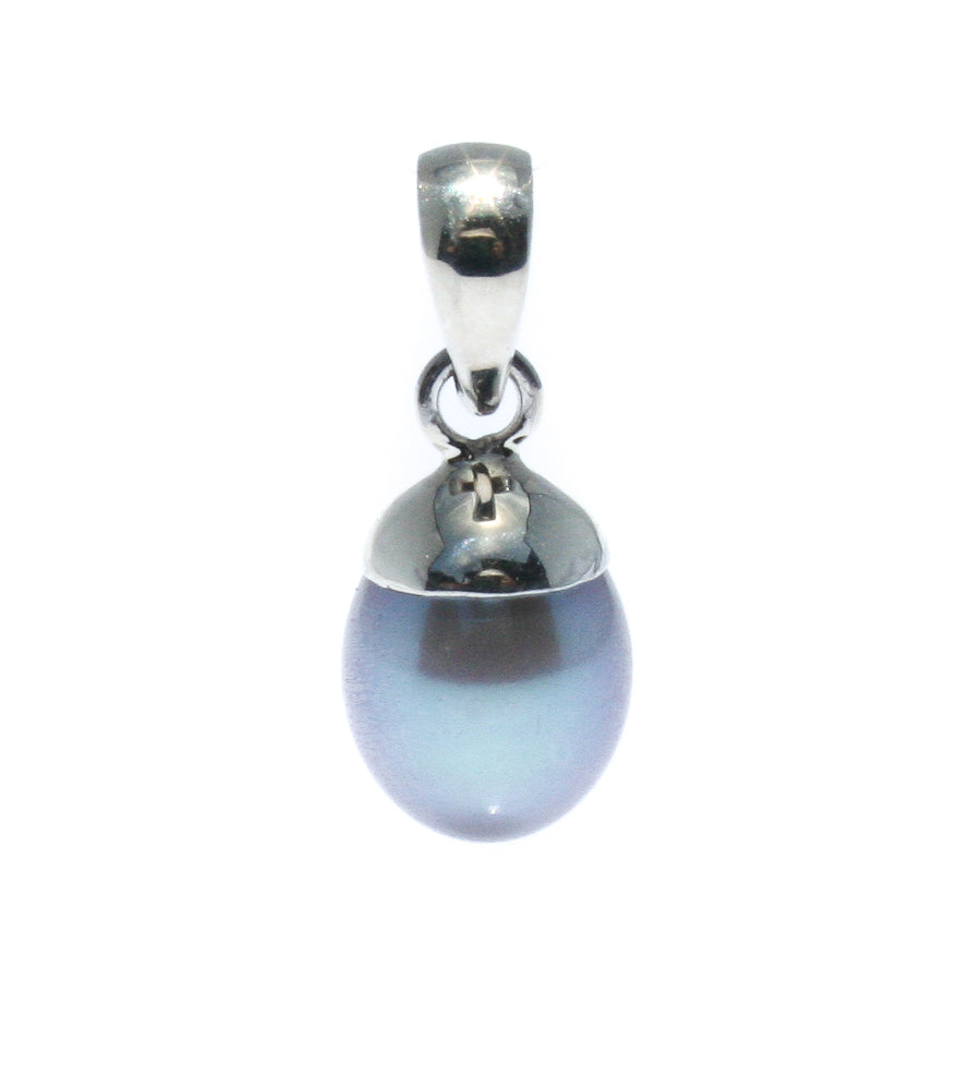 SILVER PEARL 12mm SET IN STERLING SILVER