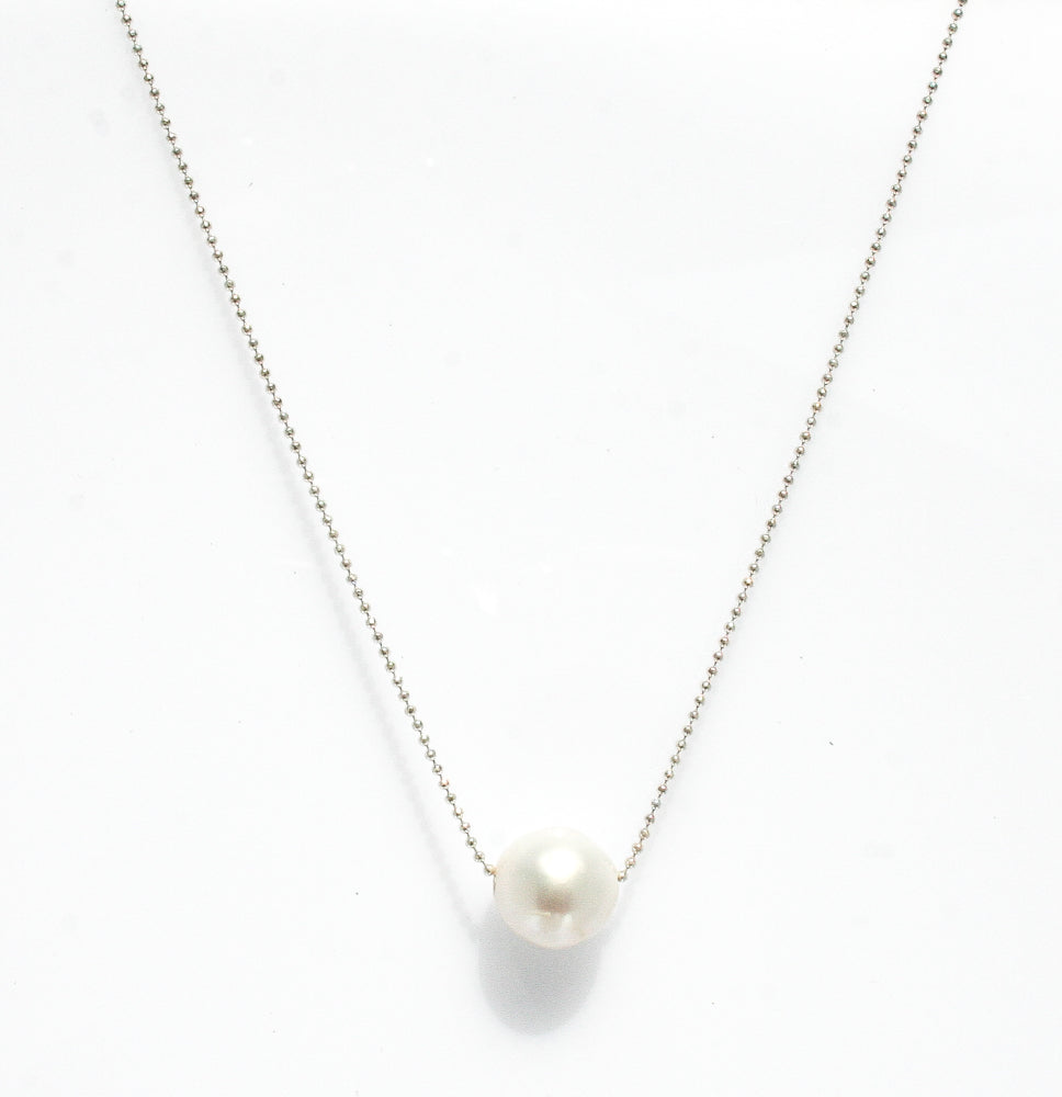 SOPHIE PEARL NECKLACE STERLING SILVER