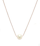 SOPHIE PEARL NECKLACE ROSE GOLD PLATED STERLING SILVER