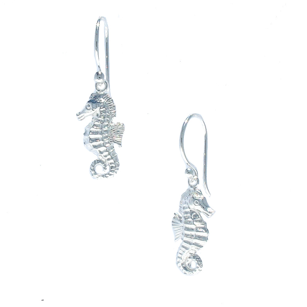 seahorse sterling silver earrings