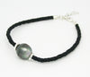TAHIATIAN SOUTH SEA PEARL BRACELET BLACK BRAID
