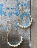 boho pearl earrings