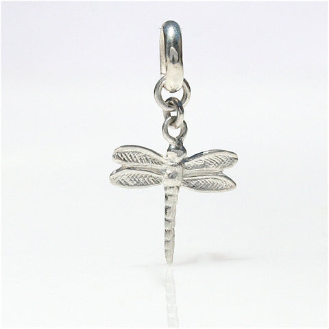 CHILDRENS PEARL BRACELET WITH STERLING SILVER DRAGONFLY CHARM