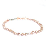 pink keshi pearl necklace