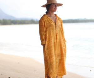 He Ho'oheno Ua | Popover Dress - Dark Green