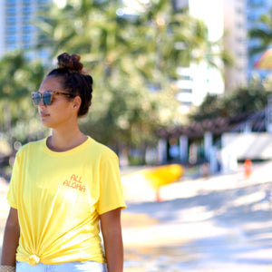 Kealopiko All Aloha | Unisex Basic Tee - yellow