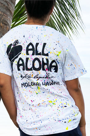 Kealopiko All Aloha | Splatter Tee - ALL SALES FINAL