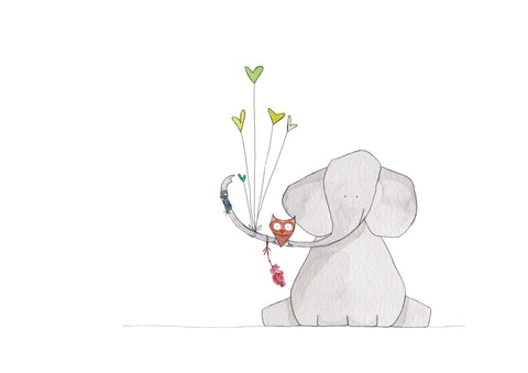 Print - For the love of elephants