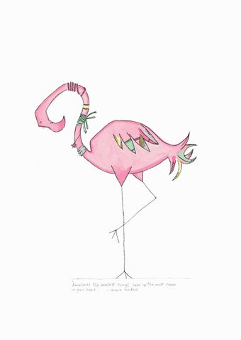 Print - I'm also a skinny flamingo